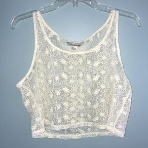Forever 21 Lace Cropped Tank
